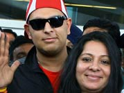 Yuvraj Singh returns home