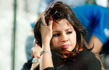 Chennai Super Kings' captain Mahendra Singh Dhoni's wife Sakshi