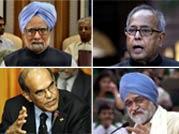 Manmohan Singh, Pranab Mukherjee, Montek Singh Ahluwalia, D Subbarao