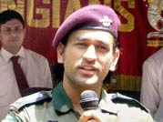 Dhoni keen on serving Indian Army