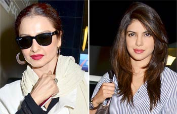 Rekha and Priyanka Chopra