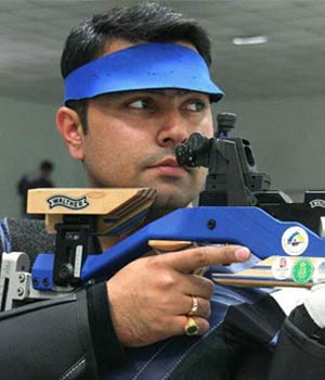 Gagan Narang (events - 10m air rifle, 50m rifle 3 positions, 50m rifle prone)