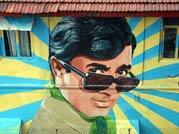rajesh khanna, mumbai, mural, superstar rajesh khanna