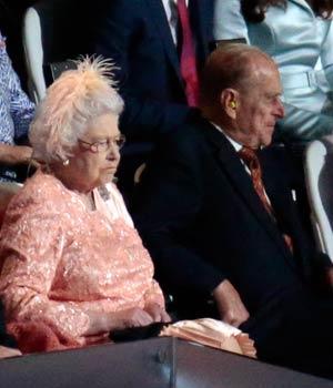 Jacques Rogge, Queen Elizabeth, Prince Philip, Samantha Cameron, David Cameron