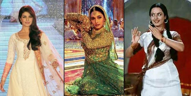Priyanka Chopra, Madhuri Dixit and Rekha