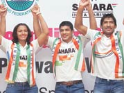 The Indian wrestling contingent for the London Olympics