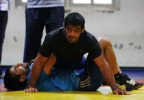 Exclusive photos of Sushil Kumar during training