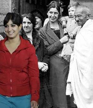 Madhura Honey with Mahatama Gandhi