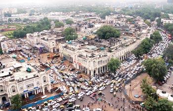 Traffic jam at Barakhamba Road