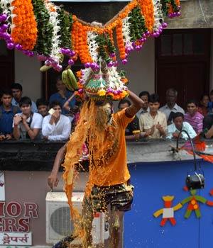 'Dahi handi' festival in Mumbai.