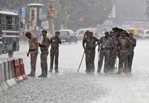 Rain halts life in Delhi