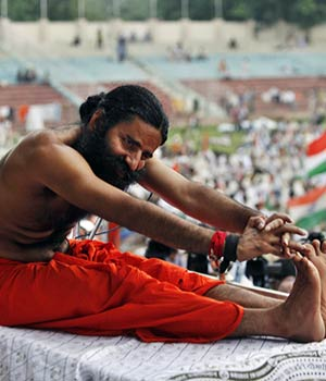 Baba Ramdev keeps cops on alert.