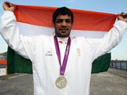 Sushil wins silver in wrestling at London Olympics