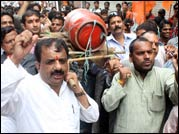 Protest rallies and demonstrations were held in Bhopal against rise in diesel prices and FDI in retail on Monday, September 24, 2012.