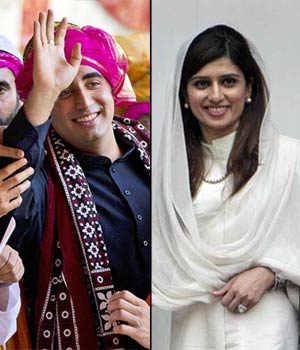 Bilawal Bhutto and Hina Rabbani Khar