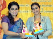 Kajol calls for eco-friendly Ganpati