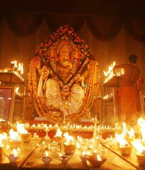 Ganesha festival in Mumbai