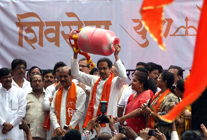 Shiv Sena rally in Mumbai