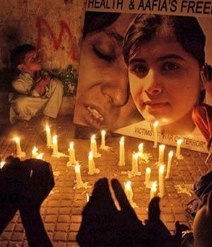 Candlelight vigil for Malala Yousafzai