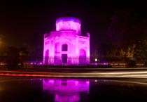 Nila Gumbad lit in pink to mark International Girl Child Day