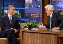 US President Barack Obama appears on The Tonight Show with Jay Leno