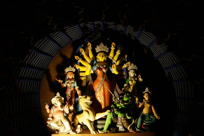 Creativity is at its best among pandals across Kolkata as artistes use innovative designs to grab the top position.