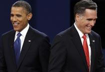 Mitt Romney, President Barack Obama clash in their first US presidential poll debate