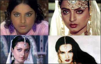 What made Rekha a sex symbol from a dark, fat girl. Click through her various looks.