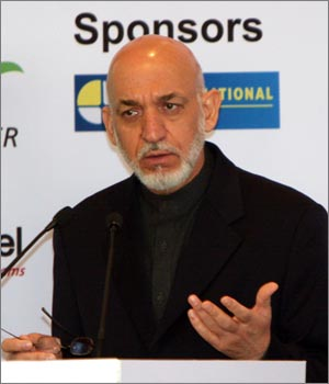 Afghanistan President Hamid Karzai at Confederation of Indian Industry meet