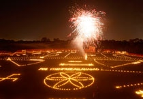 People light up their houses and surroundings with candles, diyas and artificial lights and also burn firecrackers.