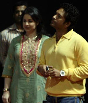 Sachin with wife Anjali at the CCI