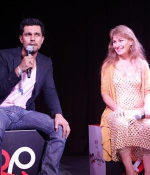 Randeep Hooda with Mahasatvaa Ma Ananda Sarita