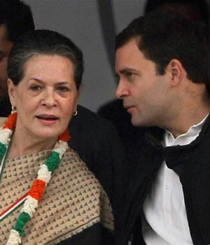 Sonia and Rahul Gandhi