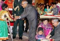 Pranab Mukherjee celebrates his 77th birthday