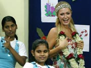 The other side of Paris! Hilton grooves to the tunes of chammak challo with orphanage kids