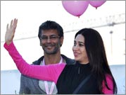 Celebs paint the town pink!