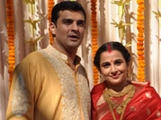 Just married: Vidya Balan poses with husband Siddharth Roy Kapur after wedding