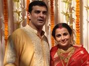 Just married: Vidya Balan poses with husband Siddharth Roy Kapur after wedding