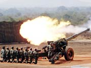 Artillery firepower demonstration of Indian Army at Deolali camp near Nashik