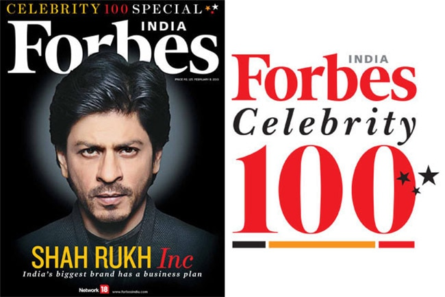Shah Rukh Khan has topped the inaugural Forbes India Celebrity 100 list. Take a look at other celebs on the list.