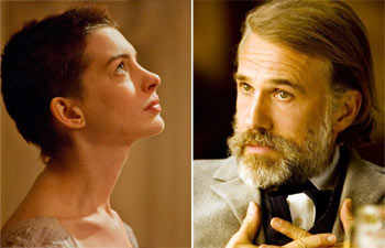 Christoph Waltz and Anne Hathaway