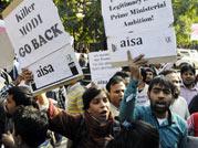 Anti-Modi protests outside Delhi college