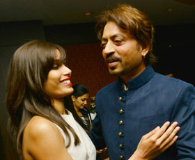 Freida Pinto and Irrfan Khan
