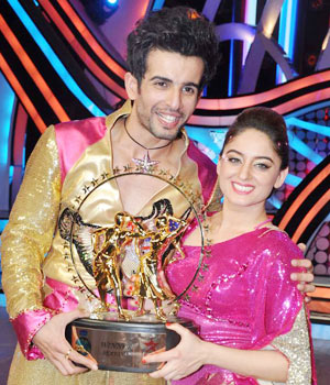 Jay Bhanushali and Mahi Vij won the fifth season of TV reality dance show Nach Baliye 5.