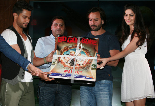 Saif Ali Khan along with Kunal Khemu, Pooja Chopra and other unveiled the music of their soon-to-release Go Goa Gone. Take a look.