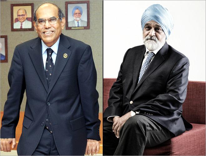 D.Subbarao (left) and Montek Singh Ahluwalia