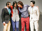 Arjun, Ayushmann turn models!