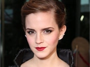 Emma Watson painting the town red!