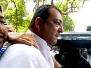 Point of no return: Sanjay Dutt on his way to Tada Court to surrender