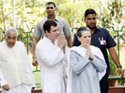 Sonia, Rahul flag off relief material for Uttarakhand